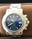 MONTBLANC MEISTERSTUCK AUTO CHRONOGRAPH 7034 WATCH W/RARE BLUE  DIAL