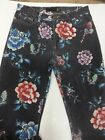 JUST CAVALLI VTG HAND PAINTED FLOWERS BUTTERFLIES GOLD STITCH ITALIAN JEANS 27
