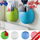 Home Bathroom Toothbrush Wall Mount Holder Sucker Suction Cups Organizer IK