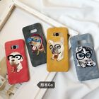Hot Cute Dog Embroidery Puppy Cover Case For Samsung Galaxy S7 EDGE S8 S9 PLUS