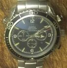 OMEGA Planet Ocean Seamaster chronograph Steel Divers Watch Vintage 80s Edition