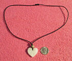"Genuine White Marble Heart Love 26"" Adjustable Rope Neklace Valentine's Day"
