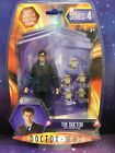 DOCTOR WHO FIGURE THE 10th TENTH DOCTOR in GLASSES with 5 BABY ADIPOSE