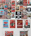 26 VINTAGE GARAGE RETRO SIGNS DECALS FOR GAS STATION DECOR 118 Scale Diorama