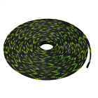 4mm PET Cable Wire Wrap Braided Sleeving Black Fluorescent Green 10M Length