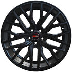 4 GWG Wheels 20 inch STAGGERED Matte Black FLARE Rims fits PROSCHE MACAN 2015-18