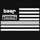 Beer Jeep Upside Down Grill Flag Decal Sticker Window Wrangler Off Road 4x4 XJ