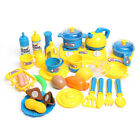 Kitchen Cooking Toys Tea-set Cutlery Pans Children Kids Pretend Developmental Pl