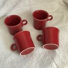 Lot Of 4 Fiestaware Tom And Jerry Mugs Scarlet