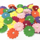 Pearl bead Felt Appliques Crafts Flowers Decorative Scrapbooking 28mm