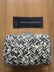 French Connection Clutch Bag Black And White With Optional Strap