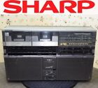 【AS-IS】SHARP Boombox Radio Cassette GF-808 THE SEARCHER-W