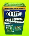 2008 Sage HIT HIGH Series FOOTBALL UN-OPENED BOX OF PACKS Hobby Box 2 Autographs