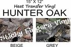 Deer Hunting Camo Oak HEAT TRANSFER Vinyl 15