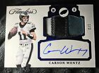 2017 Flawless Football Carson Wentz Auto 4 color Patch #d 1 3 Eagles