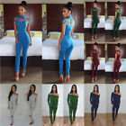 Womens Clothing Slim Fit Jumpsuits Solid  Suits Leggiings Sexy  Pants  Fashion