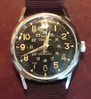 Vintage Waltham Military Manual Wind Watch with 24 Hour Dial