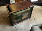 ANTIQUE CHINESE WOOD BOX ROSEWOOD OR HUANGHUALI HAND PAINTED