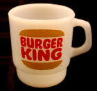FIRE-KING Burger King Restaurant Advertising Stackable Coffee Mug ANCHOR HOCKING