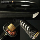 Real Damascus Steel Clay Tempered Blade Japanese Samurai Sword Sharp Katana