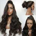 Synthetic Hair Wig Long Black Body Wavy Heat Resistant Lace Front Wigs Baby Hair