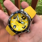 Corum Bubble Yellow 82.180.20 Automatic 45mm Stainless Steel Rubber Wristwatch