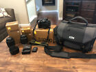 Nikon D3200 Bundle Double Zoom Lens Kit and Case Body 2 Lenses PLUS Case
