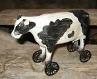 Dairy COW PULL TOY Sculpture*Primitive/French Country Farmhouse Urban Decor