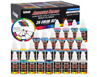 US Art Supply 24 Color Airbrush Acrylic Paint Set Airbrush Paint Kit Water Based