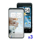 3 Pack Combo Mirror Screen Protector for HTC EVO 4G Sprint C6O6
