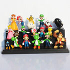 18Pcs Super Mario Bros Cake Toppers Action Figures Display Play Set Kid Toys