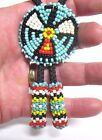 VINTAGE WESTERN SEED BEED WAMPUM BEED BOLO TIE THUNDERBIRD DESIGN