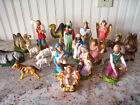Vintage 20 piece Nativity Set Made In Italy  Japan