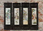 Antique Chinese Hand Painted Porcelain Panels -Set of 4