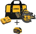 New Circular Saw 60-Volt Cordless Brushless 7-1/4 in Battery, Charger, Bag