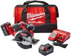 New Circular Saw Kit 18-Volt Cordless 5-3/8 in. Batteries Charger Tool Bag