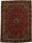 Traditional Gold-Washed Rare Sabzevar Persian Rug Oriental Area Carpet 9X11'5