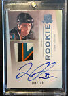 2009-10 UD The Cup LOGAN COUTURE San Jose Sharks Autograph Patch Rookie 108 249