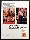 1972 Vintage Print Ad CAMEL Filter Hot Pants Blue Jeans Mens Fashion Style