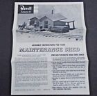 REVELL MAINTENANCE SHED TRAIN  MODEL INSTRUCTION SHEET ©1959