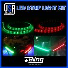 2pcs LED Strip Light 12 REDGREEN For Boat Marine Bow Navigation Waterproof 12V