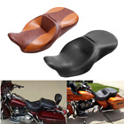 Rider Passenger Leather Seat For Harley Touring Street Glide Road King 2014 2018