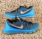 NIKE KD 8 VIII MENS SHOES SIZE 95 BLUE LAGOON CITRUS BLACK SNEAKERS 749375 480
