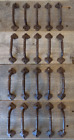 20 Cast Iron Antique Style RUSTIC Barn Handles Gate Pull Shed Door Handles Fancy