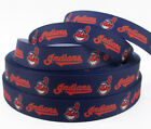 5 Yards 7 8 Cleveland Indians Grosgrain Ribbon Crafts Bows Scrapbooking