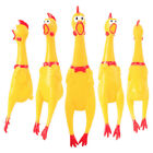 1pcs Loud Shrilling Rubber Screaming Chicken Pet Dog Puppy Squawking Squeeze Toy