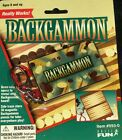 BACKGAMMON Game Keychain Keyring Magnetic Miniature Board Retired NEW Basic Fun