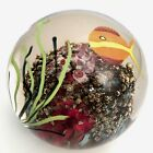 LARGE Satava Signed Paperweight Studio Art Glass Ocean Fish Coral Reef BEATIFUL