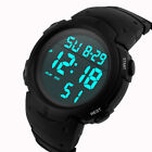 Fashion Waterproof Men's Boy LCD Digital Stopwatch Date Rubber Sport Watch US F