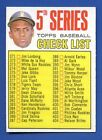 1967 Topps # 361 5th Series Checklist Roberto Clemente Pittsburgh Pirates EX MT